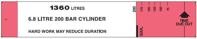 1360 litres-6.8 litre 200 bar cylinder