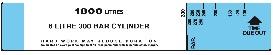 6 Litre 300 Bar Cylinder BA Control Board Slide Calculator