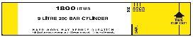 9 Litre 200 Bar Cylinder BA Control Board Slide Calculator